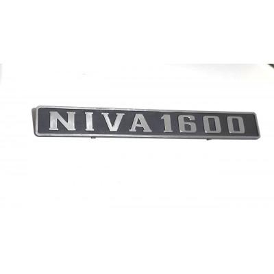 Emblema  Tampa porta malas  Lada Niva 1600  ( plástico )