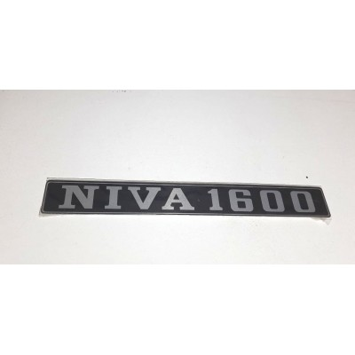 Emblema  Tampa porta malas  Lada Niva 1600  ( adesivo alumínio )