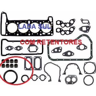 Juntas Motor Lada Niva  e Laika 1,6  COM  RETENTORES