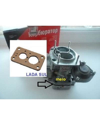 Junta Térmica Interna do Carburador  Lada Niva  Laika  Weber 2107